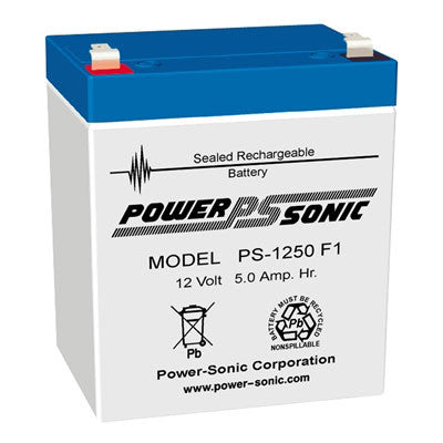 Power-Sonic 12V 5AH Battery F1 Terminals