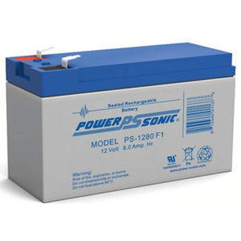Power-Sonic 12V 8AH Battery F1 Terminals
