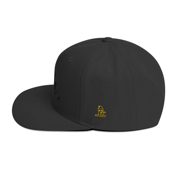 nah. Black on Black Wool Blend Snapback