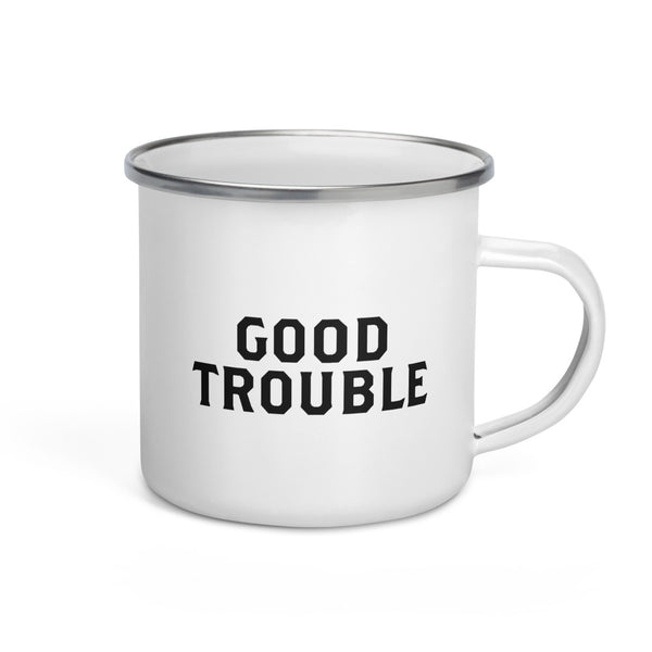 Good Trouble Enamel Mug