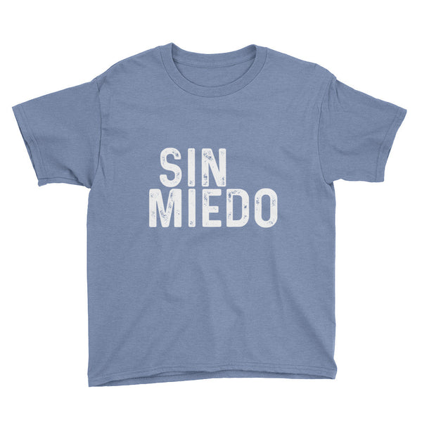 Sin Miedo Block Unisex Youth Short Sleeve T-Shirt