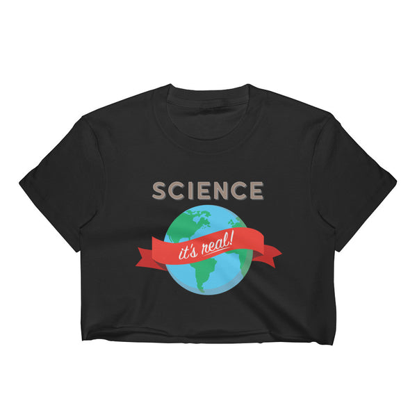 Science - It's Real! Women's Crop Top