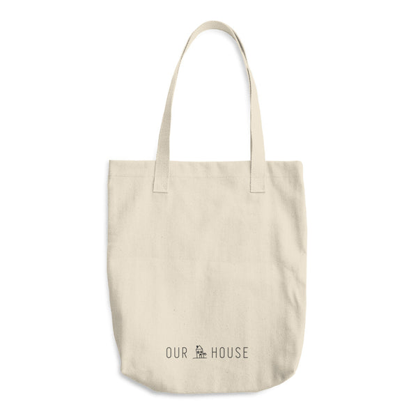 Sin Miedo Block Cotton Tote Bag