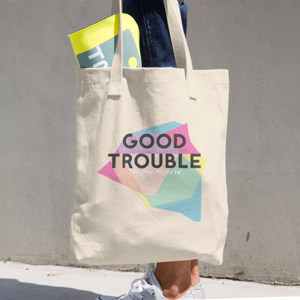 Good Trouble Cotton Tote Bag