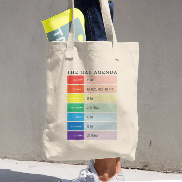 The Gay Agenda Cotton Tote Bag