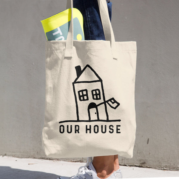 Our House Logo Cotton Tote Bag