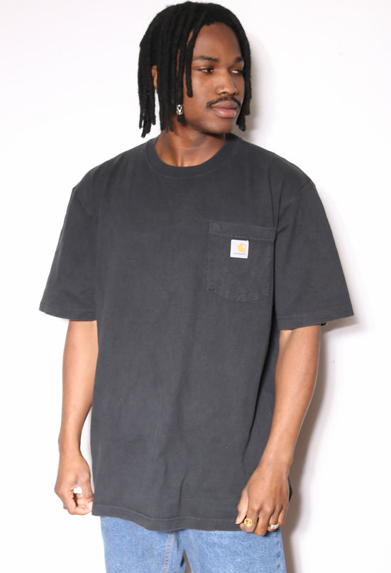 90'S NAUTICA NAVY WITH PATTERN POCKETED TEE (L)