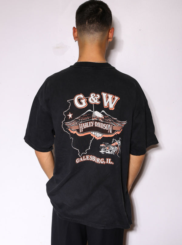 900'S TOMMY HILFIGER RED WITH EMBROIDERED BOX LOGO AND USA FLAG ON BACK FULL ZIP BOMBER JACKET *SMALL MARKS THROUGHOUT* (L)