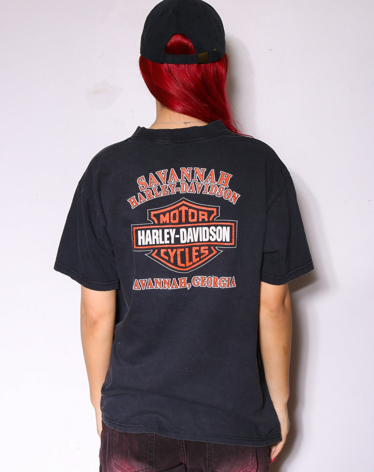 90'S NIKE NAVY WITH SPELL OUT AND SWOOSH *DISTRESSED LOGO* (X-LARGE)