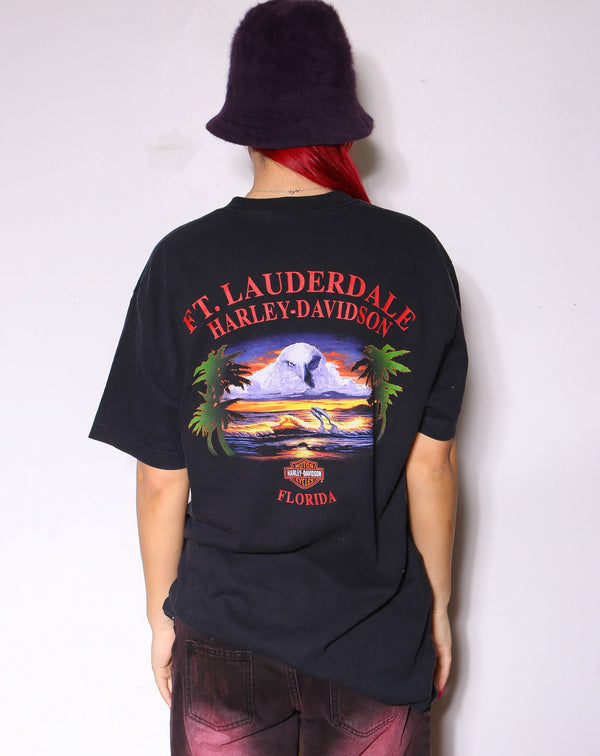 90'S NAUTICA YELLOW TEE *SMALL MARKS ON FRONT* (L)