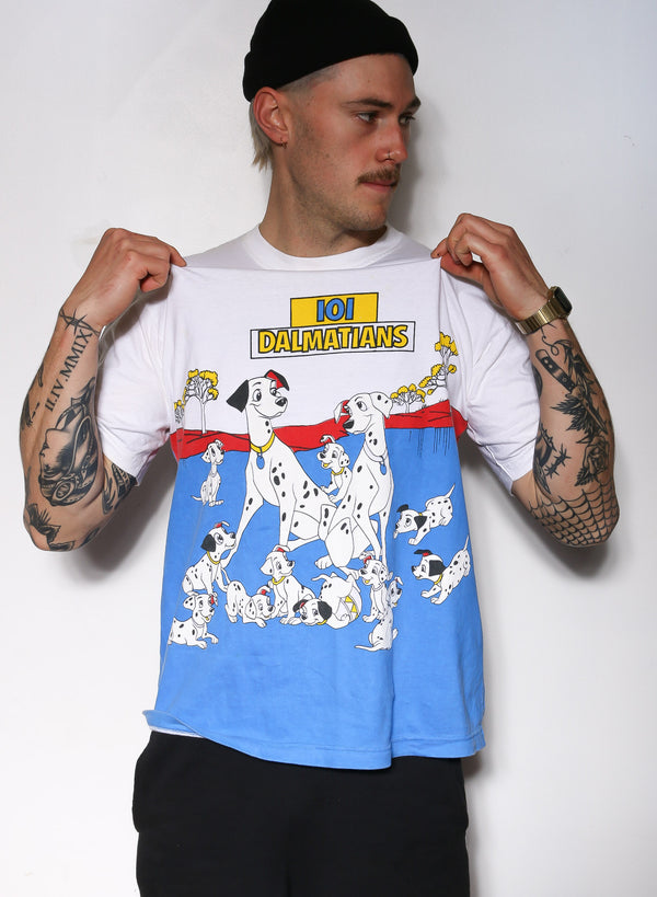 EARLY 90'S 101 DALMATIONS TEE (L)