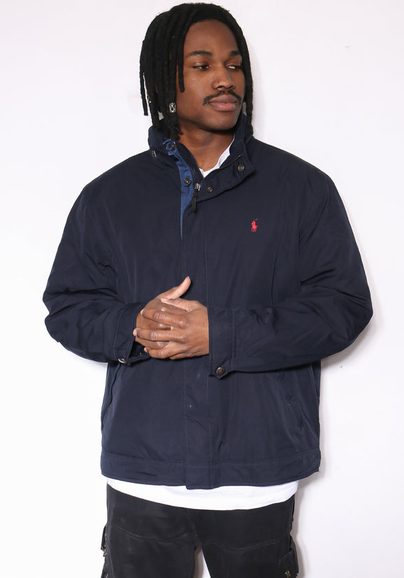 90'S TOMMY HILFIGER PLAID MIX L/S BUTTON UP SHIRT (XX-LARGE)