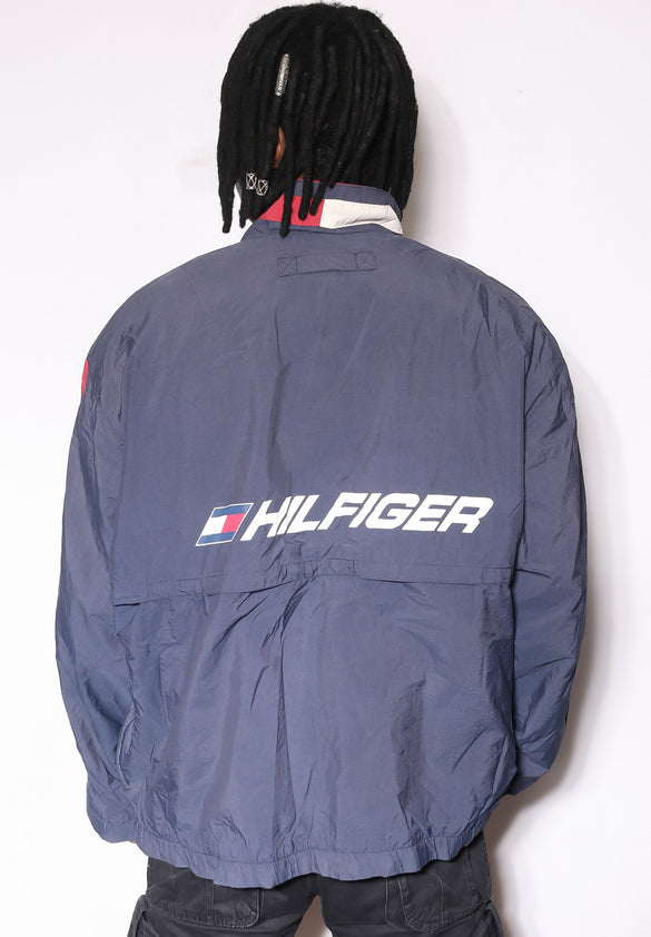 90'S RALPH LAUREN PLAID MIX WITH GREEN PONY L/S BUTTON UP SHIRT (S)