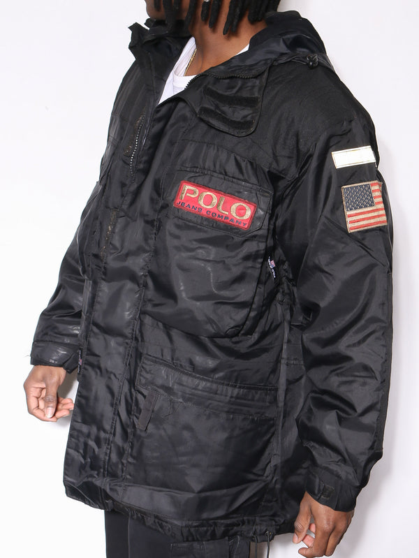 90'S THE DISNEY STORE DENIM WAS MICKEY EMBROIDERED L/S BUTTON UP SHIRT (FITS LIKE X-LARGE)