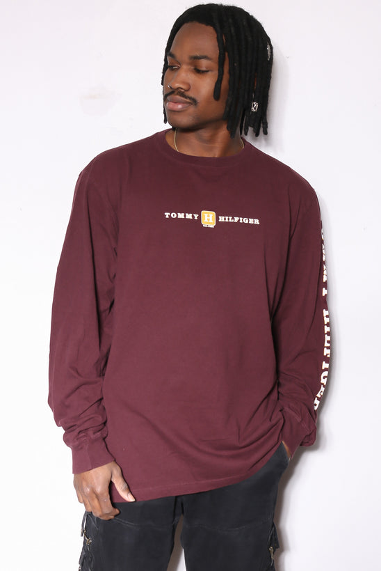 90'S TOMMY HILFIGER EMERALD GREEN WITH LION CREST CORD L/S BUTTON UP SHIRT (L)