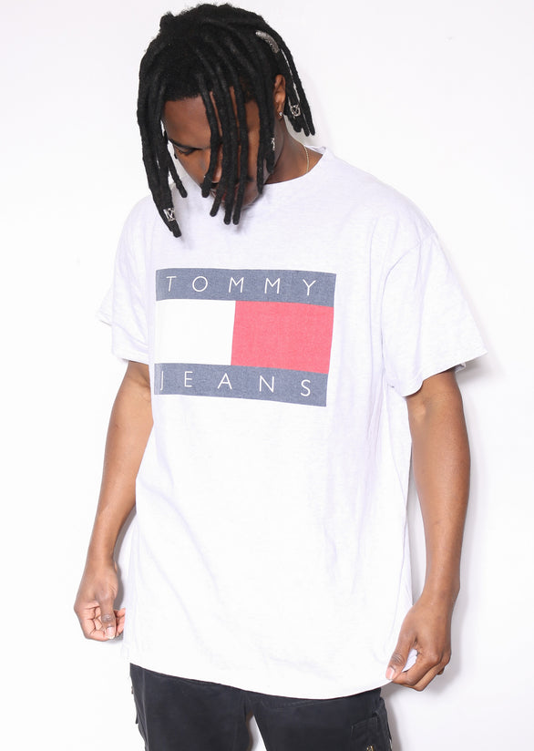 90'S WARNER BROS STRIPED WITH EMBROIDERED LOONEY TUNES CHARACTERS L/S BUTTON UP SHIRT (L)