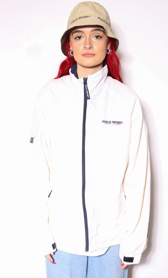 90'S POLO RALPH LAUREN BLUE WITH PINK HORSE L/S SHIRT (M)