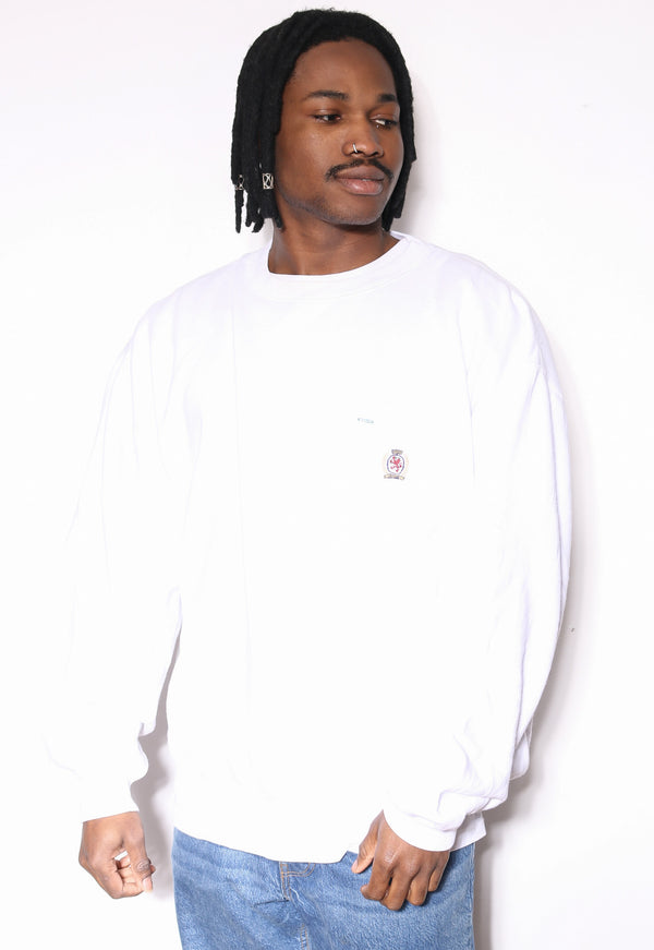 90S RALPH LAUREN CHAMBRAY WITH DETAILED BLAKE S/S SHIRT (M)