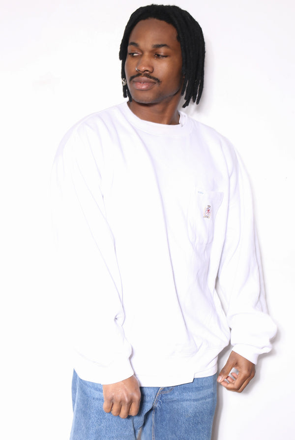 90S POLO RALPH LAUREN GREEN WITH ORANGE S/S SHIRT (L)