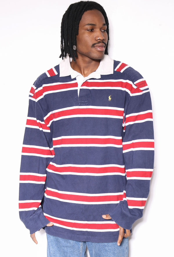 90S POLO RALPH LAUREN PINK CHECK S/S SHIRT (M) *SIZE TAG READS 16 1/2 36-37