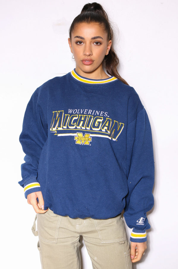 90'S POLO Ralph Lauren BLUE/GREY SWEATSHIRT (M)