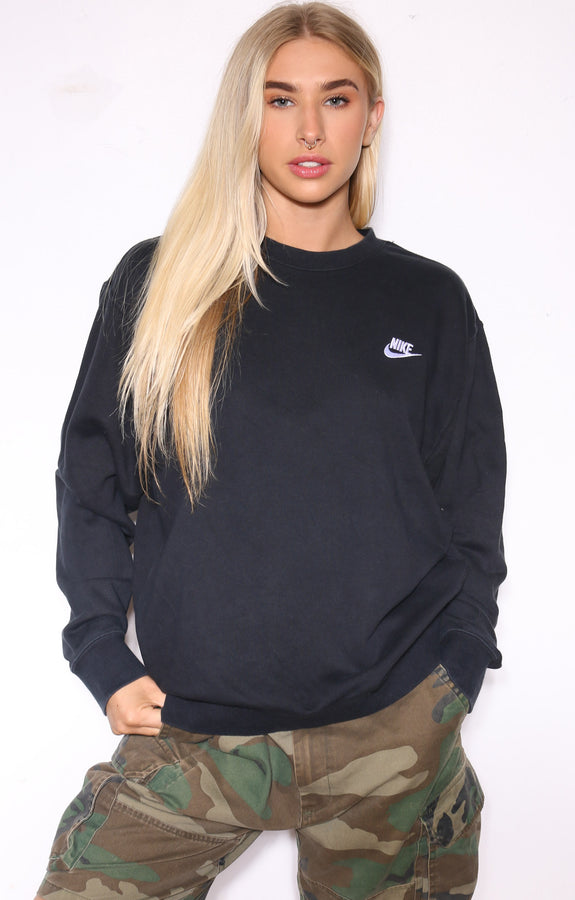90'S POLO RALPH LAUREN BLUE WITH RED HORSE KNITE SWEATSHIRT (X-LARGE)