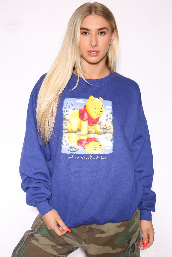 90'S NIKE NAVY WITH GREY LOGO TEE (X-LARGE)