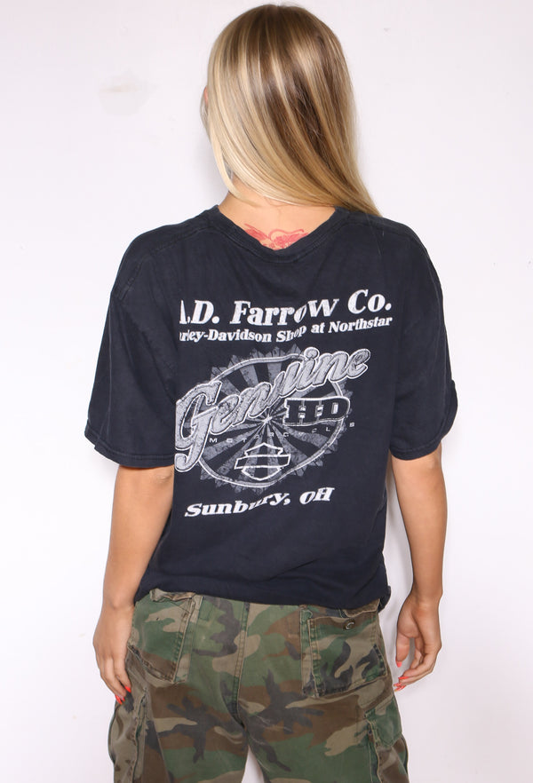 90'S GREEN BAY PACKERS LEE SPORT HOLDING HELMET DISTRESSED PRINT GREY TEE (X-LARGE) *HOLE ON FRONT