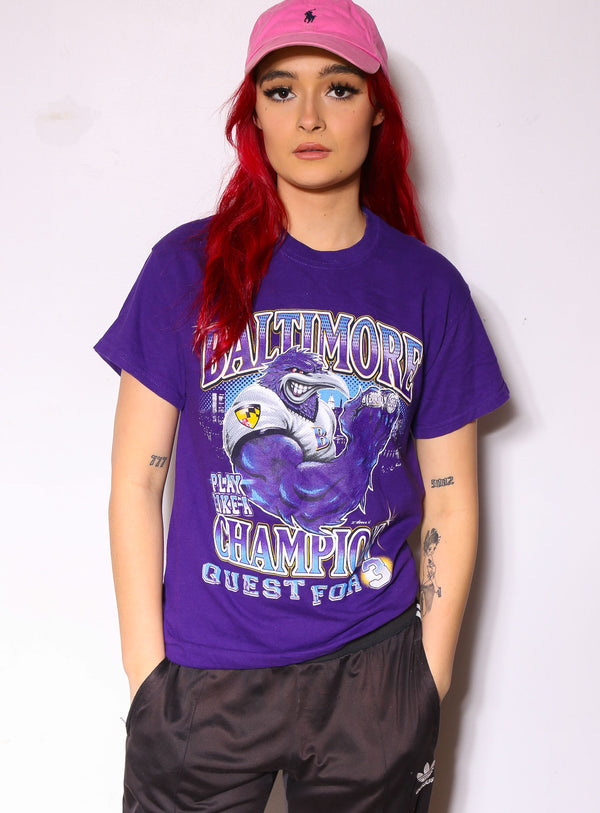 90'S GREEN BAY PACKERS CHROME HORIZON TEXT NFC CENTRAL DIVISION CHAMPIONS TEE (X-LARGE)