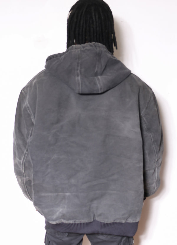 90's Gold's Gym 1/4 Zip Nike Blue & Red Big Back Swoosh Spray Jacket (M)