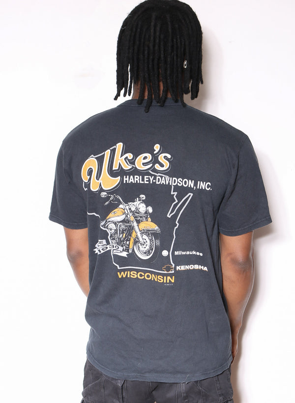 90S Nike Air Spell Out Black Tee (X-LARGE)