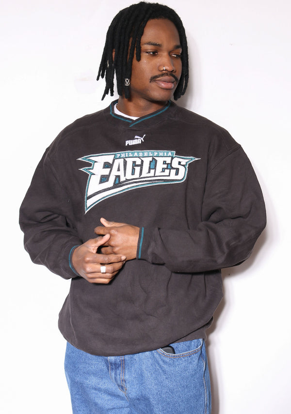 90S TOMMY HILFIGER EMBROIDERED CENTRE CROSS EST MCMLXXXV 1/4 ZIP SWEATSHIRT (X-LARGE) *MINOR MARK ON FRONT