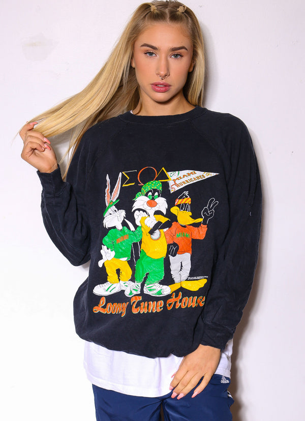 90S HARLEY DAVIDSON 3 FRAME GRAND ISLAND TEE (M) *SMALL MARKS ON FRONT