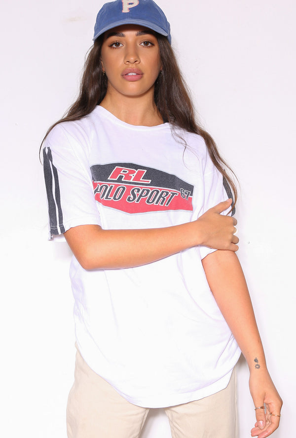 90S POLO RALPH LAUREN BLAIRE GREEN WITH PURPLE HORSE L/S SHIRT (X-LARGE)