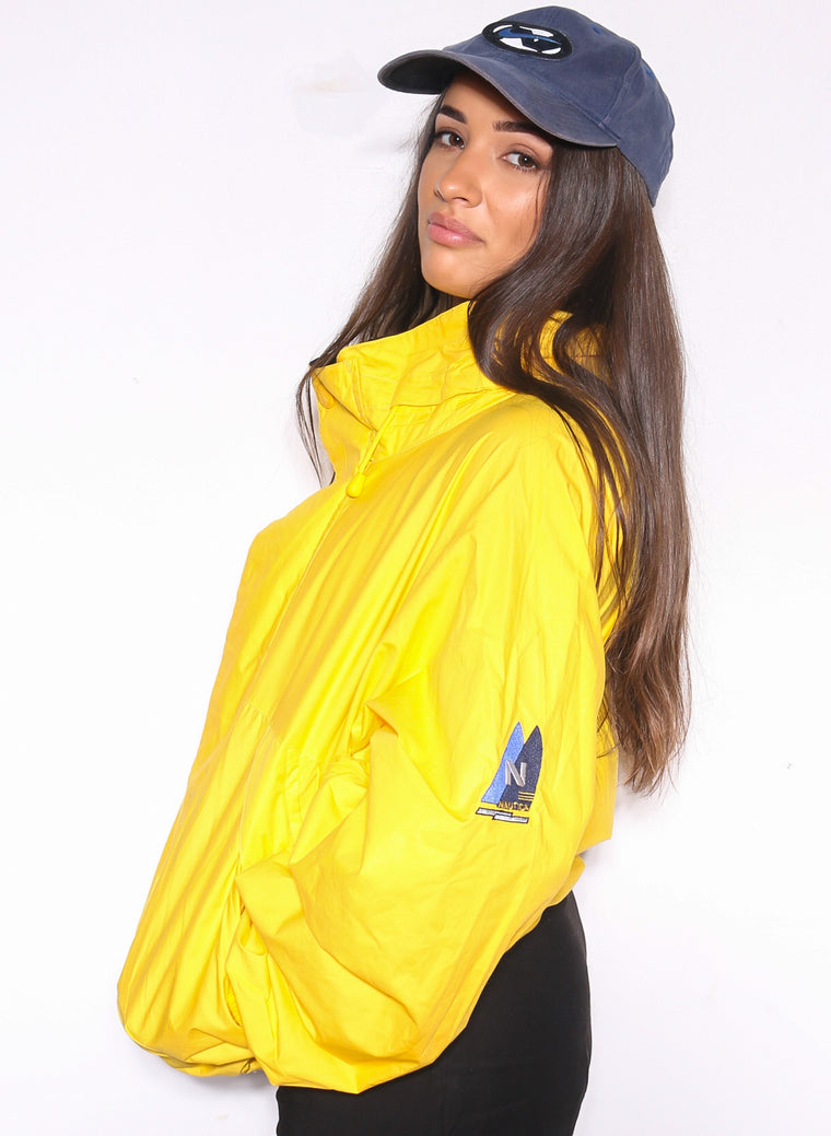 Vintage Tommy Hilfiger 1996 City Of Hope All Star Garage Band Yellow Spray Jacket