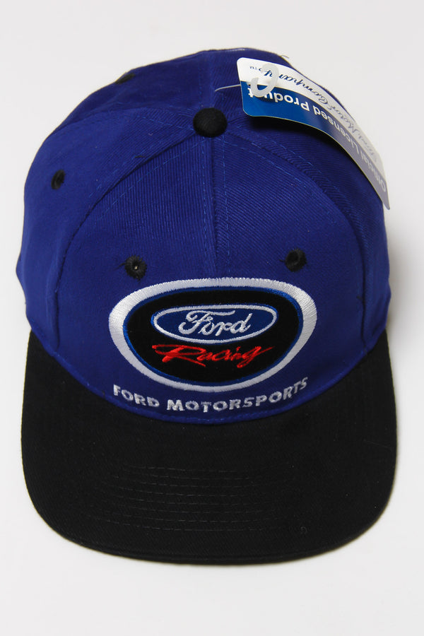 DEADSTOCK 90'S FORD RACING FORD MOTORSPORTS SUPER SPORTS SNAPBACK CAP (OS)