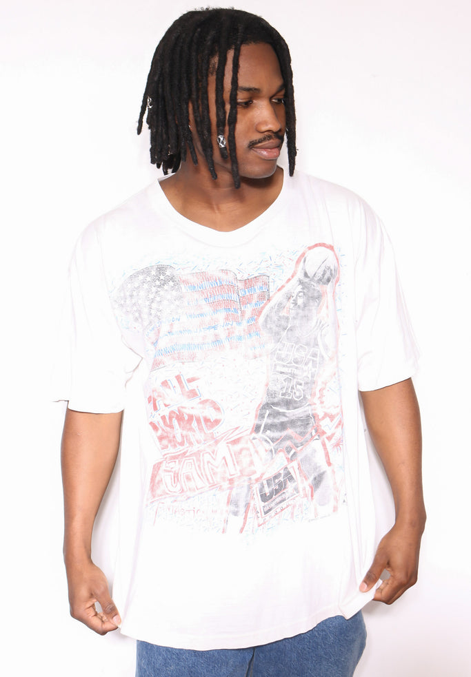 90S Donald DUCK angry print Sweatshirt (X-LARGE)
