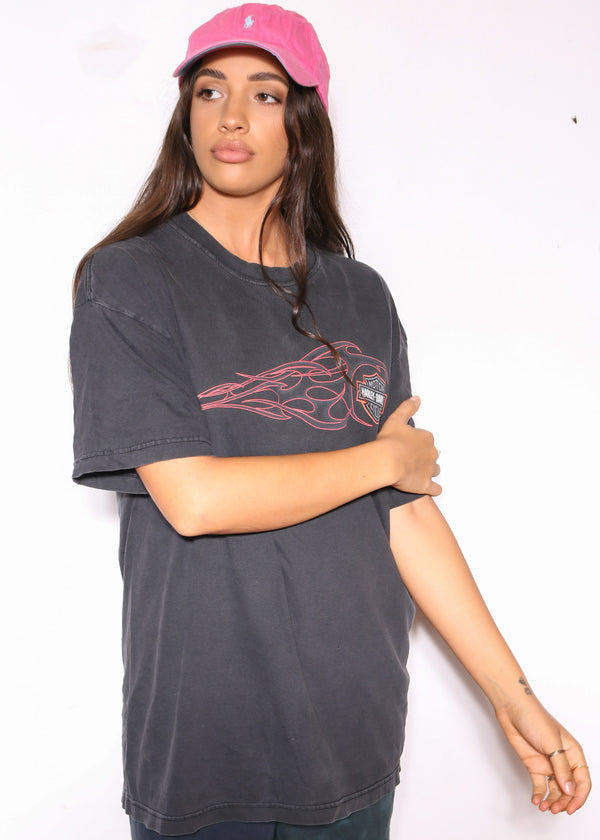 90S NAUTICA PLAID EMBROIDERED L/S SHIRT (M)