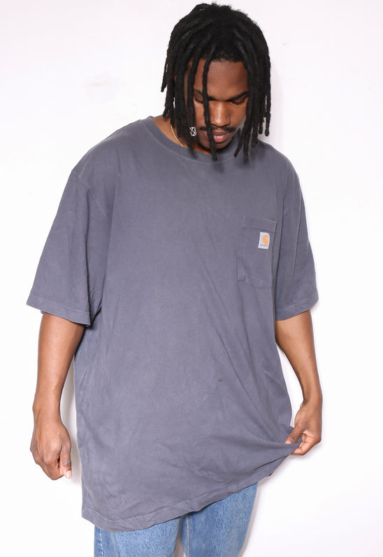 90s RALPH LAUREN POLO DISTRESSED HOODED SWEATSHIRT (L) *MARKS ON FRONT - SMALL HOLE IN LEFT SHOULDER
