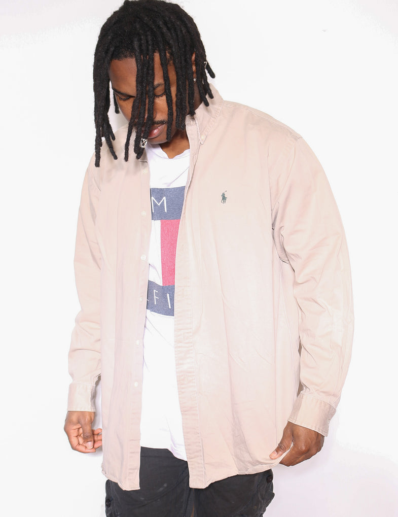 90'S RALPH LAUREN CHAPS RED WITH EMBROIDERED LOGO KNIT (XX-LARGE)