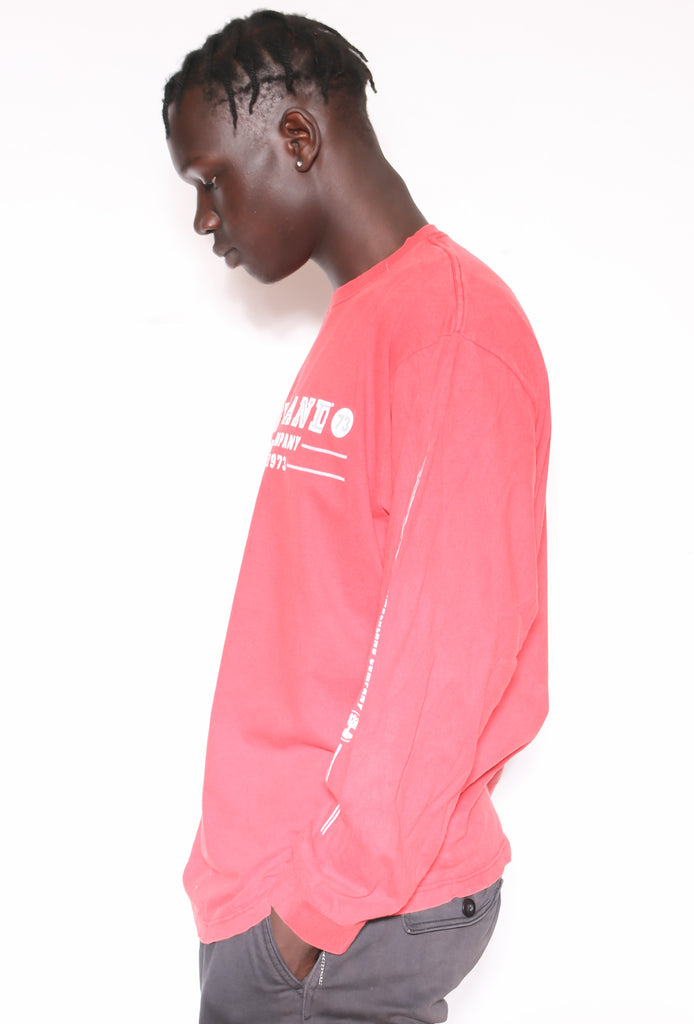 90'S RALPH LAUREN YELLOW WITH NAVY PONY 1/4 ZIP SWEATSHIRT *SMALL MARKS THROUGHOUT* (XX-LARGE)