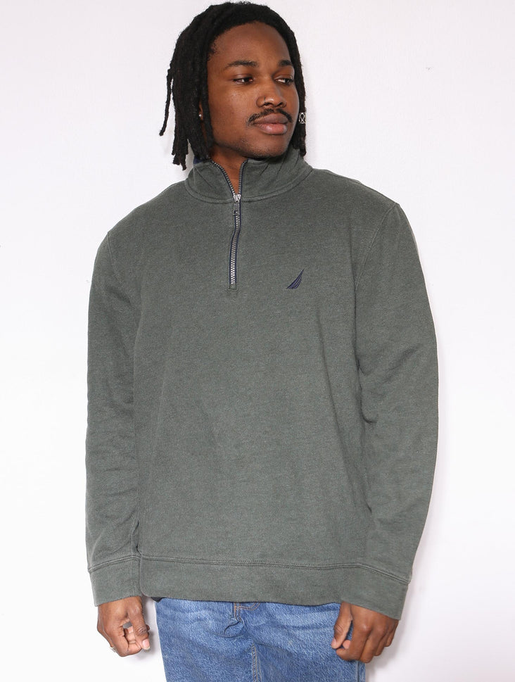 90'S RALPH LAUREN CHAPS RED EMBROIDERED SWEATSHIRT *SMALL MARK ON FRONT* (LABELLED X-LARGE FITS XX-LARGE)