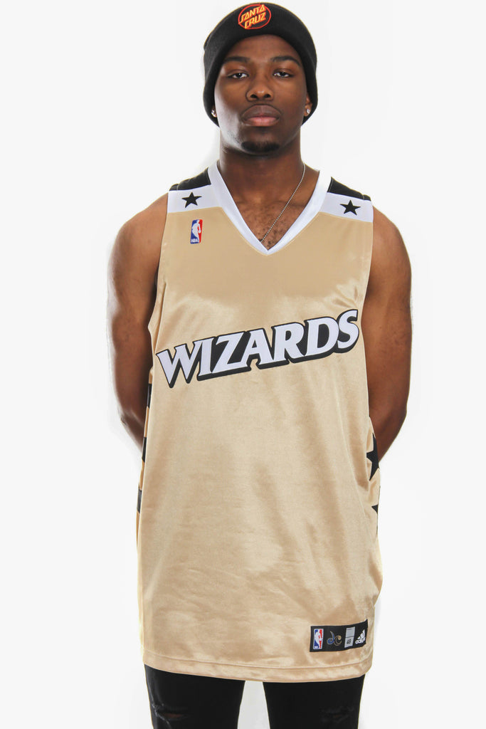 NWOT 2006 Washington Wizards GOLD Adidas Authentic Game cut NBA 48 Jersey (XL)
