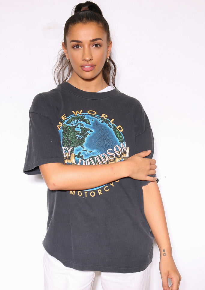 90'S WASHINGTON REDSKINS HELMET TEE (X-LARGE)