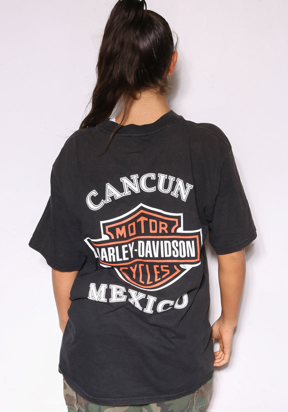 90S NAUTICA NAVY & YELLOW L/S POLO (X-LARGE)