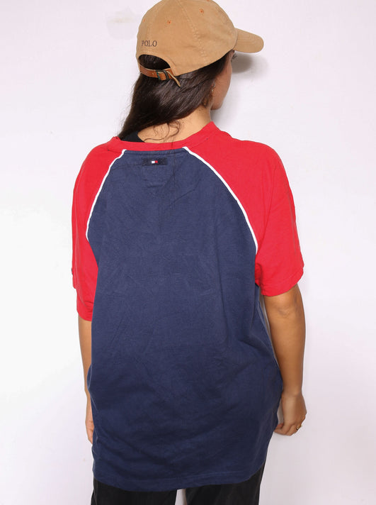 90S N.W.O WRESTLING WHAT'S RED AND WHITE TEE (X-LARGE)
