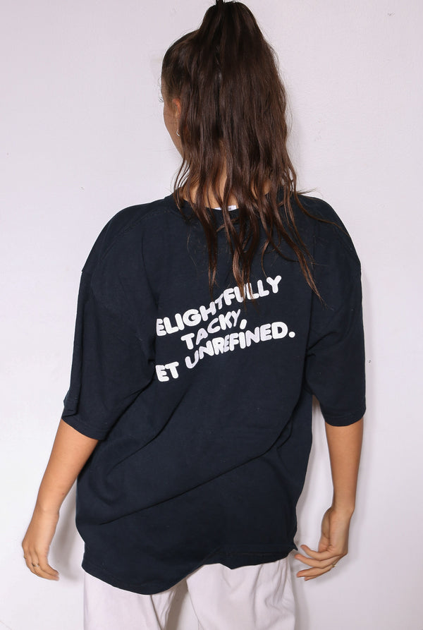90's All That Jazz Black Flower Print Dress (M)