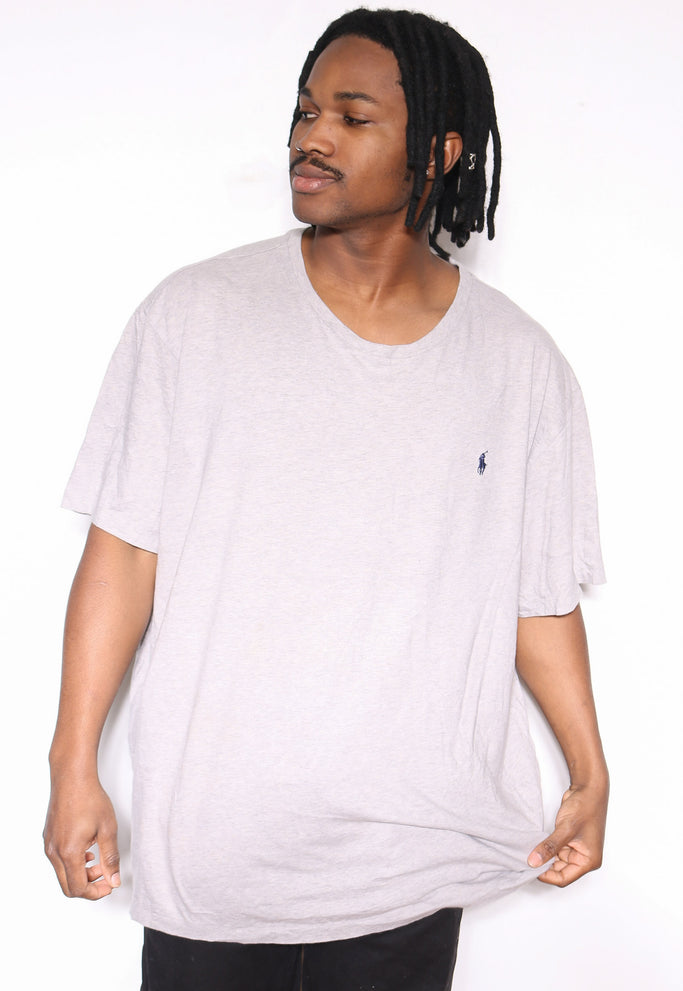 90'S POLO RALPH LAUREN PIMA COTTON ORANGE WITH GREEN HORSE KNITWEAR SWEATSHIRT (X-LARGE)