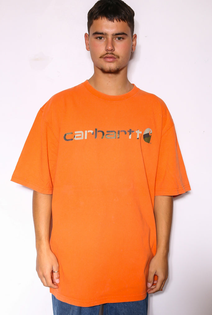 90'S RALPH LAUREN PINK WITH BROWN PONY S/S SHIRT (X-LARGE)