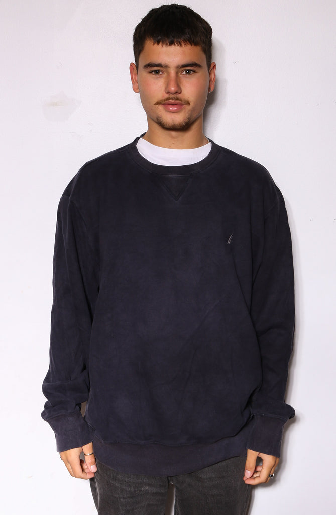 90'S RALPH LAUREN ORANGE WITH ROYAL BLUE PONY L/S POLO (X-LARGE)